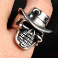 Western style Michael Jackson hat skull ring