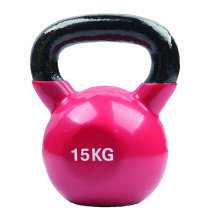 15KG Red-Violet Vinyl Coated Kettlebell