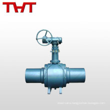 6 inch 8 inch full welded butt welding trunnion mounted ball valve
