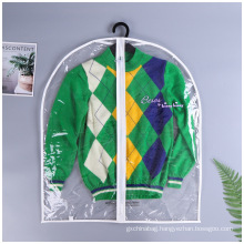 Custom Printed Logo Clear Transparent Plastic PVC Packing Suit Garment Cover Bag for Storing Clothes