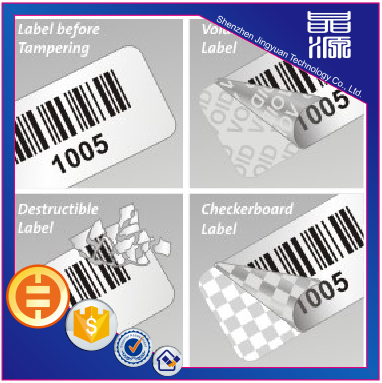 Self Adhesive Frangible Paper Security label