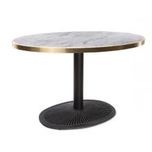 Mesas de jantar redondas de mármore com uma perna só para restaurantes