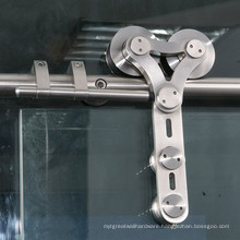 high quality frameless sliding door accessories stainless steel glass door hanger roller