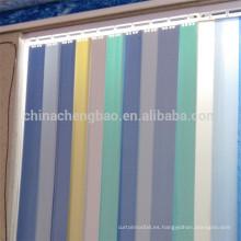 2016 nuevos diseños de tela impermeable al aire libre persianas verticales