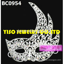 mask fashion crystal pageant tiaras