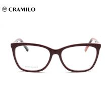 Cadres de lunettes de lecture optiques en acétate adaptés aux besoins du client de mode