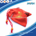 bronzing printed red microfiber pouch for watch