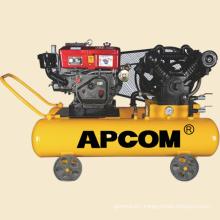 AV10016 10hp 16bar 35CFM 100 liter automobile tire inflation portable diesel air compressor