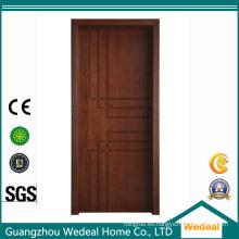 Puertas talladas laminadas PVC del MDF para los proyectos de las casas