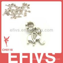 2013 Новый Модный слон очаровывает 925 серебряных подвесок прелести