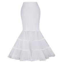 Kate Karin Womens bodenlangen weiß Retro Vintage Kleid Crinoline Underskirt Meerjungfrau Brautkleid Petticoat CL010477