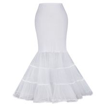 Kate Karin Womens Floor Length White Retro Vintage Dress Crinoline Underskirt Mermaid Wedding Dress Petticoat CL010477