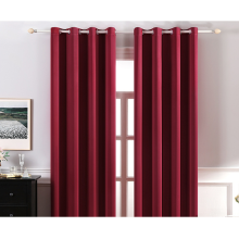 ready made  black out  shower red curtain curtains set forthe living room bath room home