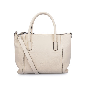 Borse Shopper a mano in pelle beige Lady Cow