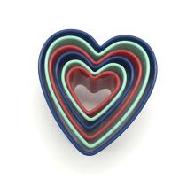 Cortador de biscoitos de coração de plástico
