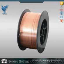 Fil de soudage blindé à gaz de cuivre revêtu de cuivre ER70S-6