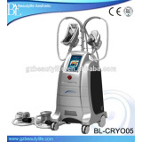 4 handles professional cryolipolysis device with 2 heads working simultaneously