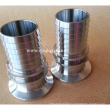 Raccord de tuyau d'ajustement sanitaire en acier inoxydable
