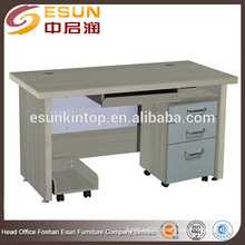 Good quality smooth melamine surface computer desk for sale
