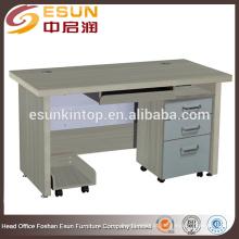 Mesa de computador de superfície de melamina lisa de boa qualidade para venda