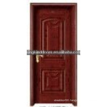 Best Sale Pop Steel Wooden Interior Door Designs For Living Room KING-06(K)