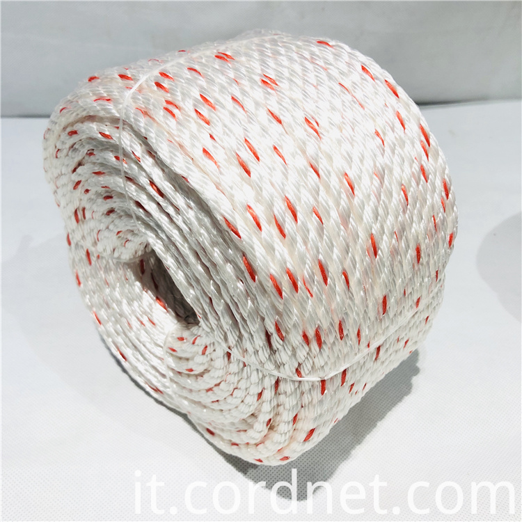 White With Orange Pp Multifilament Rope 5
