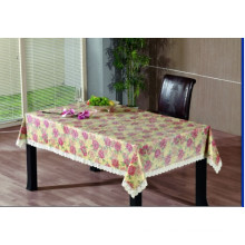 PVC Embossing Tablecloth with Flannel Backing (TJG0018)