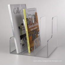 Frosted Acrylic Magazine Racks, Acrylic Book Holders with Three Tiers
