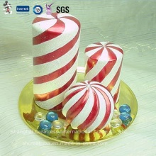 Best-Selling Red and White Spiral Christmas Candle