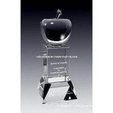 Trophée Apple Crystal Award de 9 pouces de hauteur (GL12)