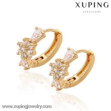 90063 Xuping Fashion haute qualité plaqué or 18 carats boucle d'oreille