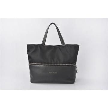 Ella Patent Tessuto Soft Nylon & Leather Tote