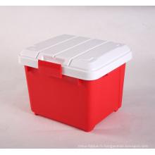 Grandes boîtes de rangement en plastique dur pour coffre