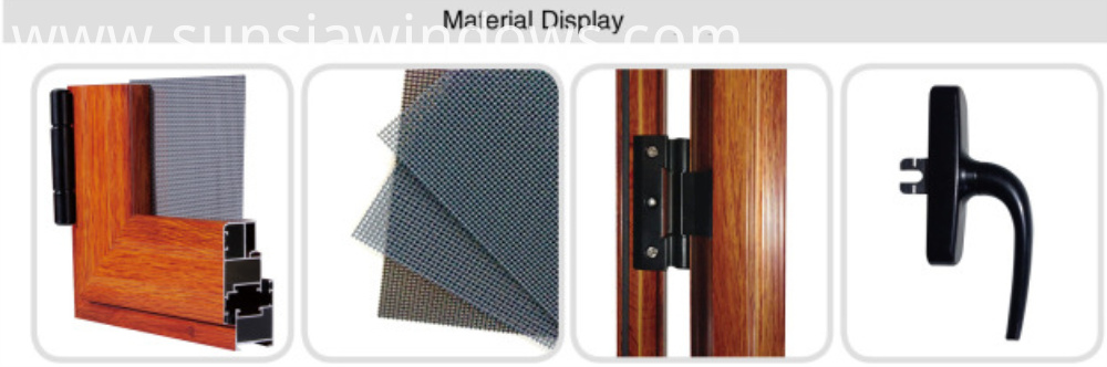 Material Display for casement screen door