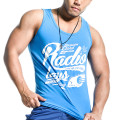 95% kapas 5% spandex mens gym tank top singlet