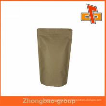 Paquete de material de papel del fabricante chino para el té con ziplock