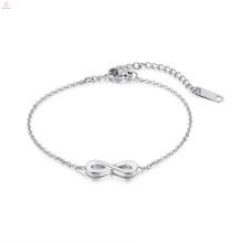 Mädchen Liebe Edelstahl Silber Infinity Armband
