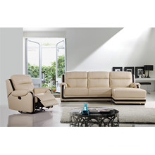 Functional Furniture Leather Sofa with Chaise