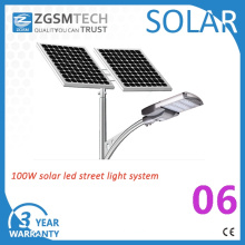 Luz de rua exterior solar do diodo emissor de luz 100W com UL de RoHS do Ce