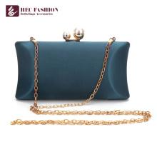 HEC Chine Factory Fashion vert petit sac à bandoulière en satin pour dame