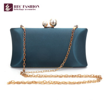HEC China Factory Fashion Green Small Satin Shoulder Bag For Lady