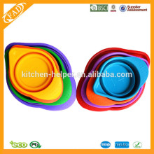 Hot Selling High Quality Food Grade Heat Resistant Nesting Collapsible Silicone Measuring Cup Set