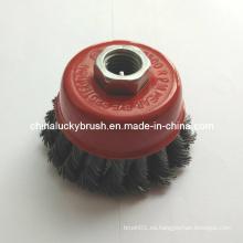 """Cepillo de la taza del nudo del alambre de acero 3 """"5/8"""" -11 hilo (YY-384)"""