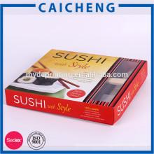 Boîte à aliments en papier fantaisie personnalisée avec insert de séparation en carton