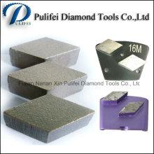 Conseils de segment de Rhombus de meulage grossier de surface dure de plancher en pierre concrète