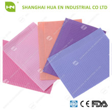 Blue Paper Plastic Disposable Bibs For Dental Clinic