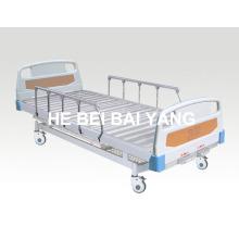 (A-69) - Lit d'hôpital mobile fonctionnel à double fonction avec tête de lit ABS