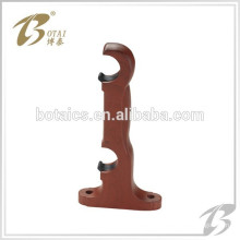 decor pvc or plastic double bracket for curtain rod