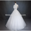 Bridal A Line Floor Length Lace Up Corset Organza Ball Gown Strapless Appliqued Lace Fabric And Chiffon Wedding Dress