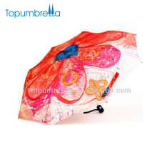 21''8k flower pattern girl flower design umbrella